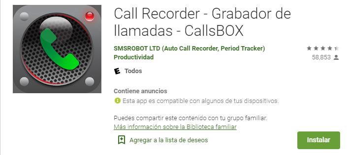 Call Recorder - Grabador de llamadas – CallsBOX