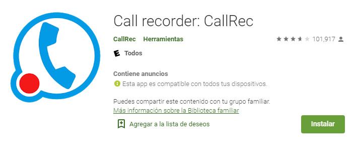 Call recorder aplicaciones para grabar llamadas gratis