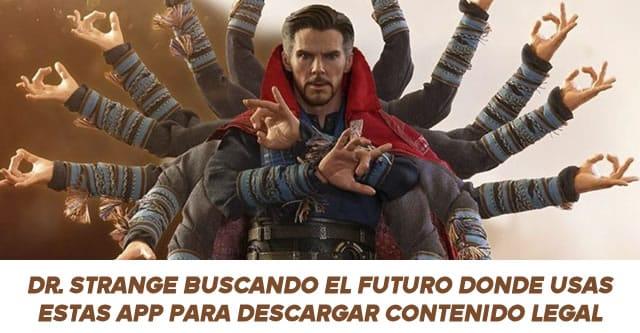Doctor Strange viendo los futuros donde es ilegal descargar videos de youtube