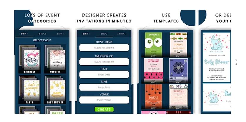 tarjetas de invitacion con esta app para hacer invitaciones
