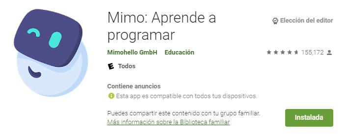 aplicaciones educativas Mimo: Aprende a programar