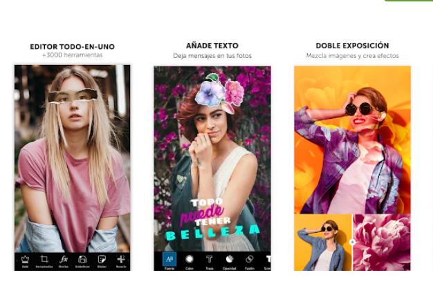 PicsArt, Aplicaciones para hacer montajes con fotos