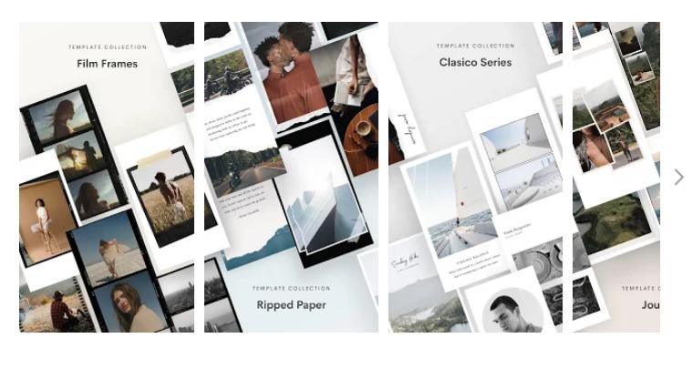 Unfold, Aplicaciones para hacer montajes con fotos