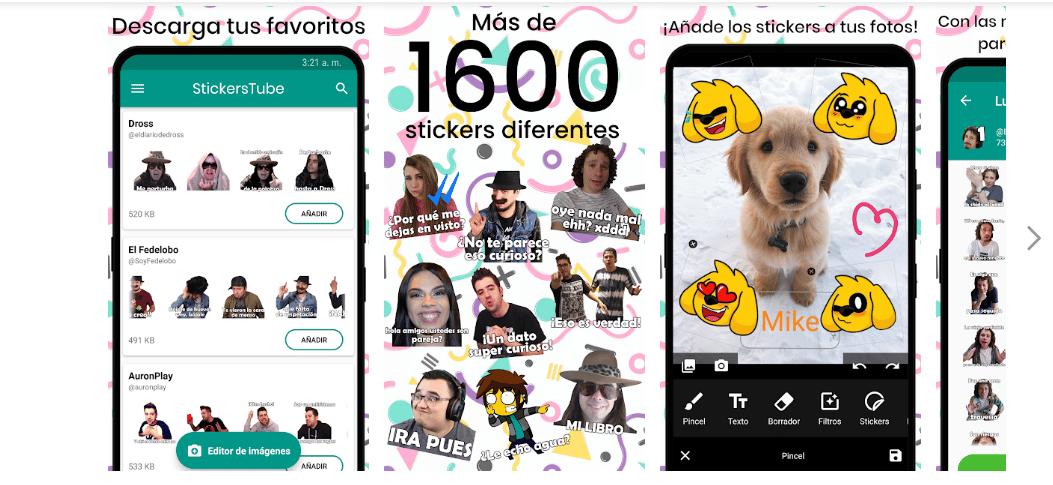 StickersTube – Stickers de Youtubers